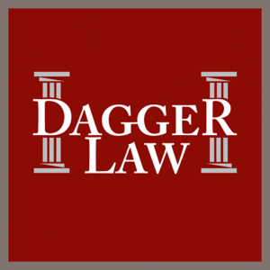 Dagger Law logo Red background