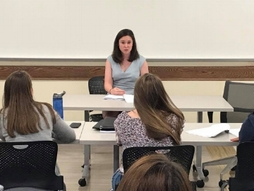 Alyssa Parrott teaching Ohio University Legal Summer Camp