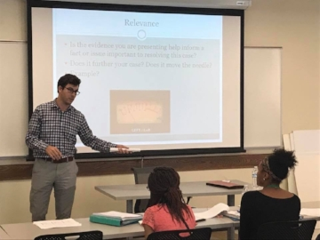 Brian Kelso teaching Ohio University Future Lawyer Summer Camp