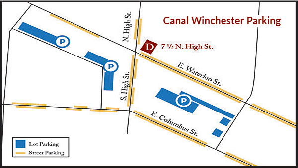 Canal Winchester Parking Map 7 1/2 N. High Street 43110 Franklin County Ohio