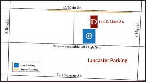 Lancaster Parking Map